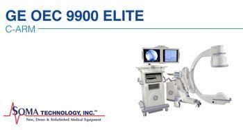 GE OEC 9900 Elite C-Arm With Continual High Level Fluoroscopy