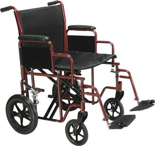 Drive Medical Bariatric Heavy Duty Transport Chair w/ S A